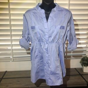 New no tags Almost Famous button down shirt large